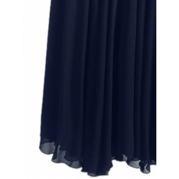 Black Pleat Detail Layered Tulle Maxi Fairy Skirt