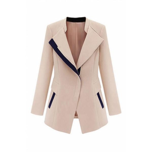 Detachable Hoodied Apricot Suits